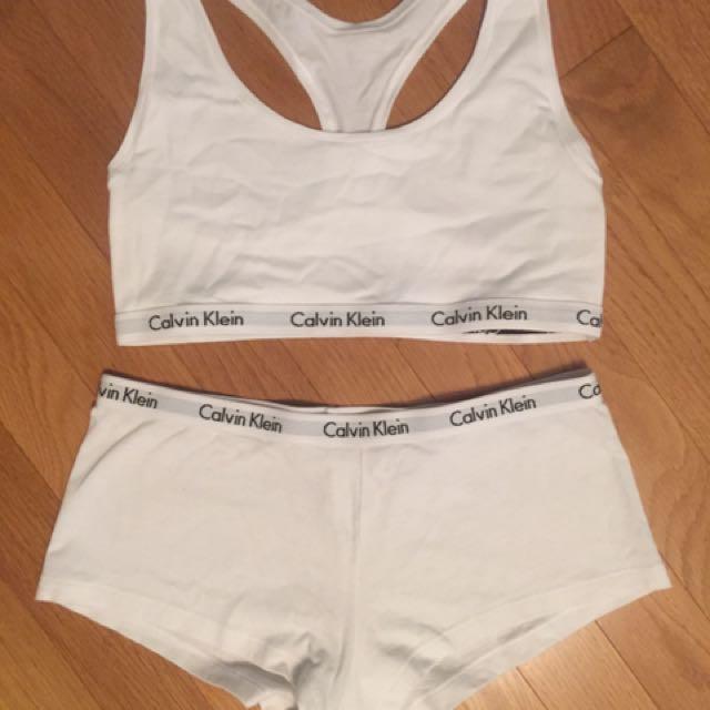 Calvin Klein Bra With Matching Boyshort Underwear