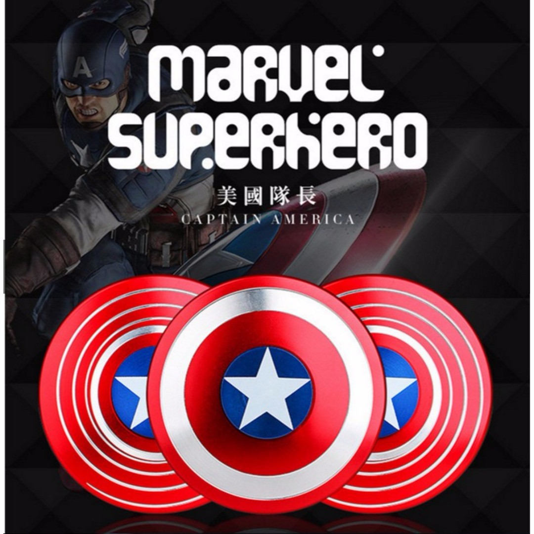 Captain America Edc Hand Spinner Super Hero Fidget Toy Toys Batman Games Bricks Figurines On Carousell