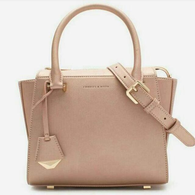 Charles & Keith Large Structured Handbag Slingbag