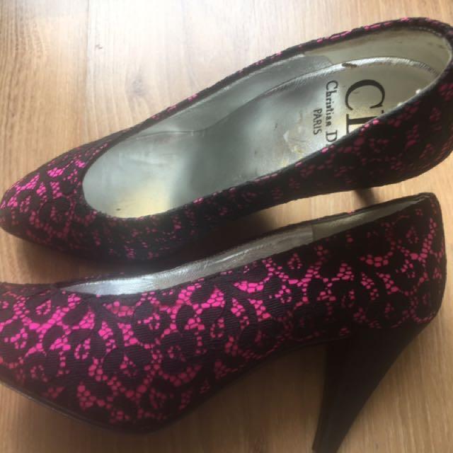 Christian Dior Vintage Lace Heels