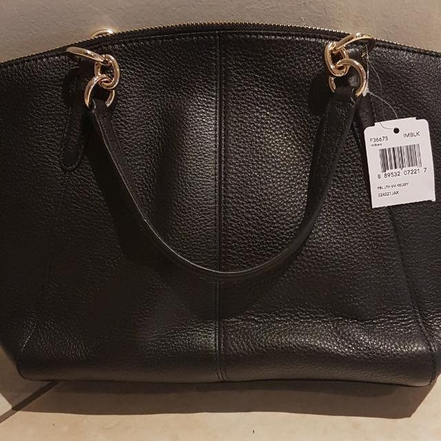 Coach Pebble Leather Mini Kelsey Satchel Handbag