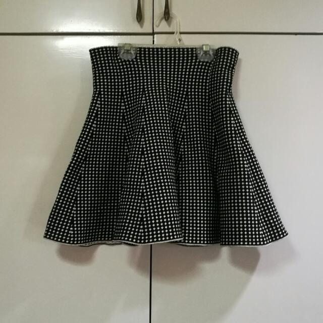 Cross Print Skirt