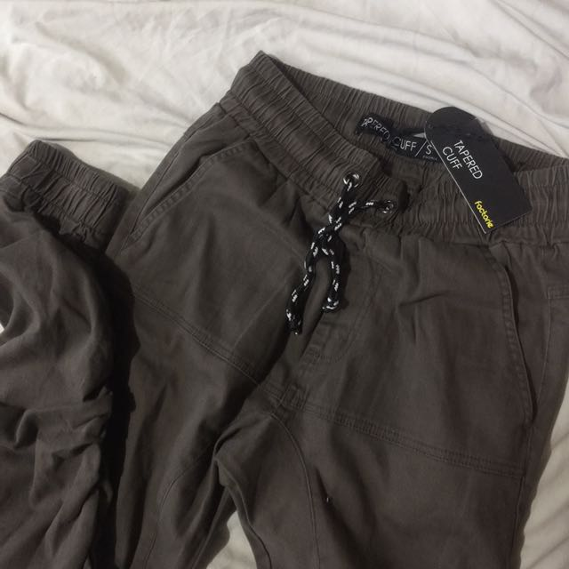 FACTORIE Olive Green Cuffed Pants