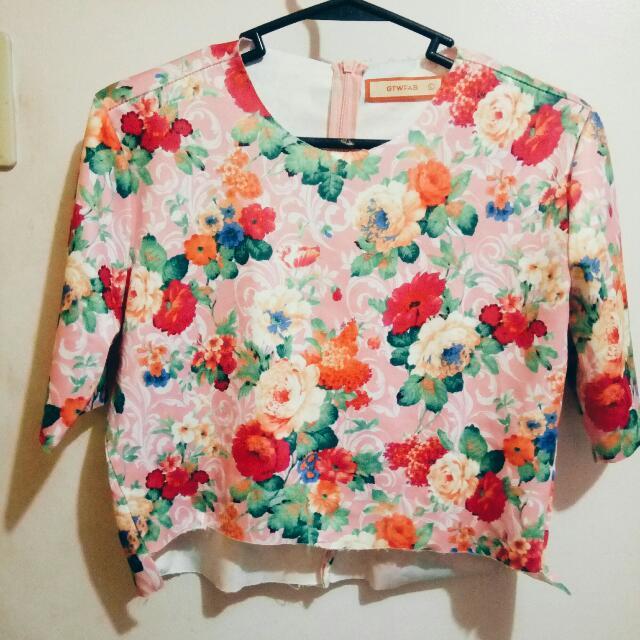 Floral Crop Top SM Dept Store