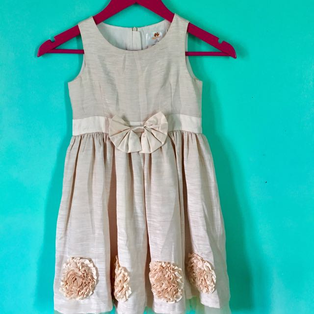 Flowery Cream Dress