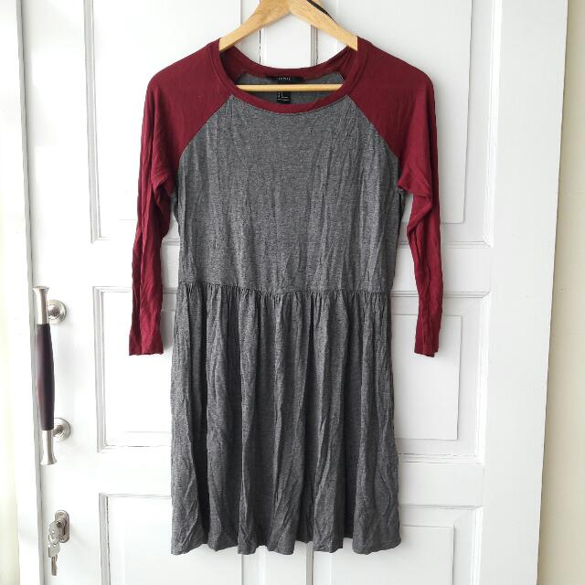Forever 21 Two Tone Jersey Dress