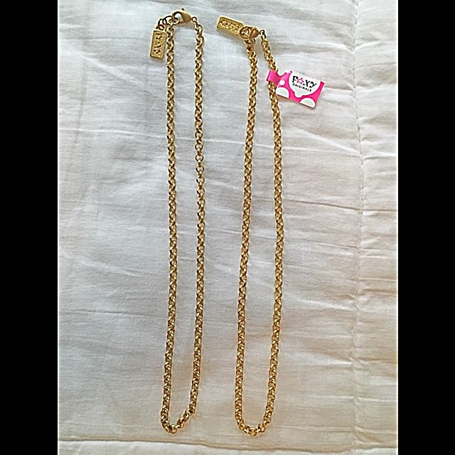 Reduced Foxy Originals Gold Plated Chains (2)