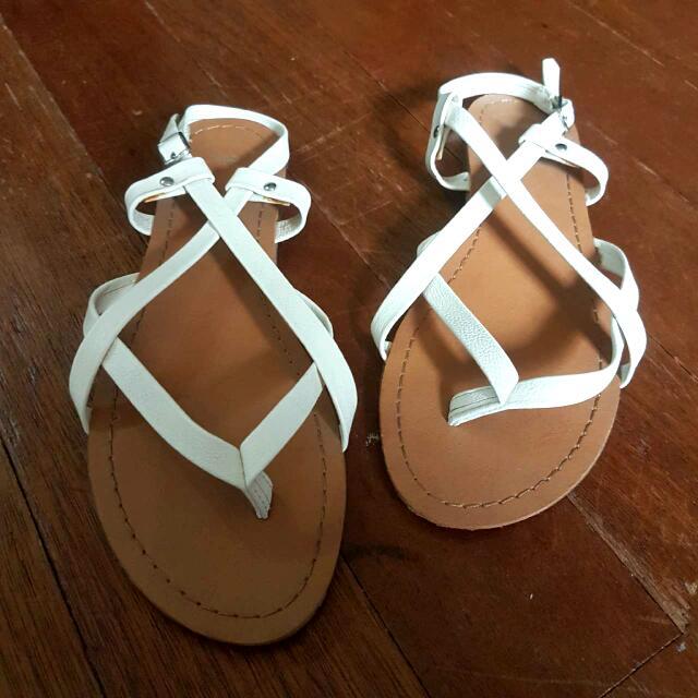 Gap White Sandals