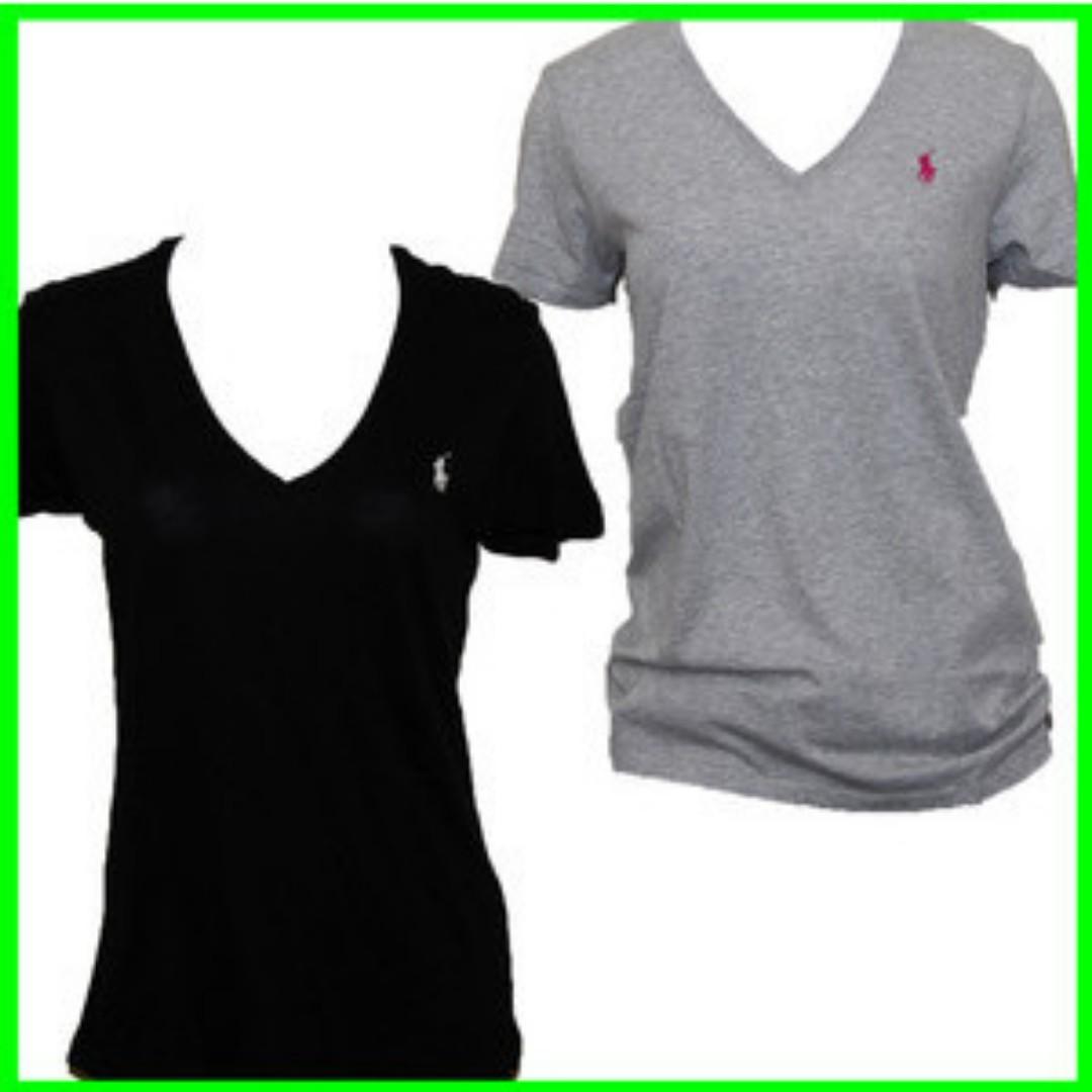 GENUINE Ladies Ralph Lauren Pima Cotton V neck Polo Tshirts