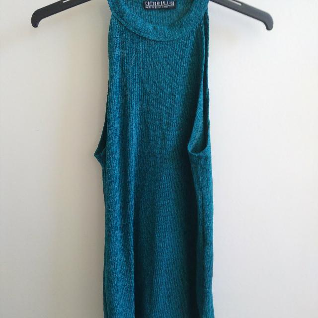 Green Teal Long Singlet Top