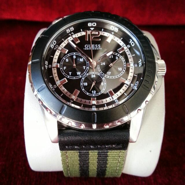 Guess Sport W0881G1 Silver-Black FullGress