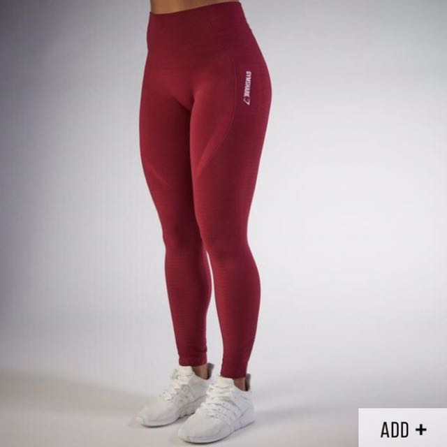 afb886fc6c4d7 GYMSHARK High Waisted Seamless Leggings in BEET, Sports, Gym ...