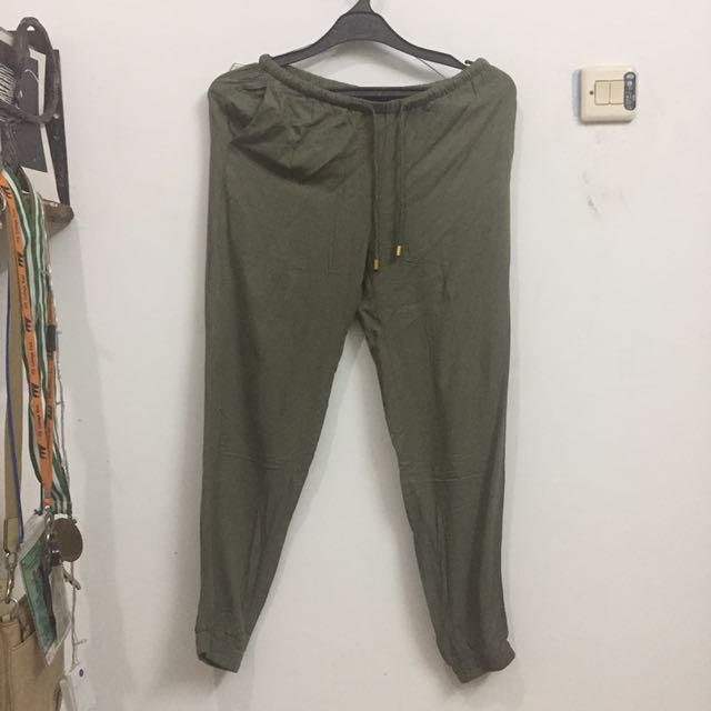 H&M ARMY GREEN SOFT TROUSERS