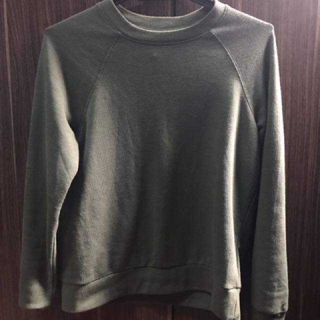 H&M Army Green Sweatshirt