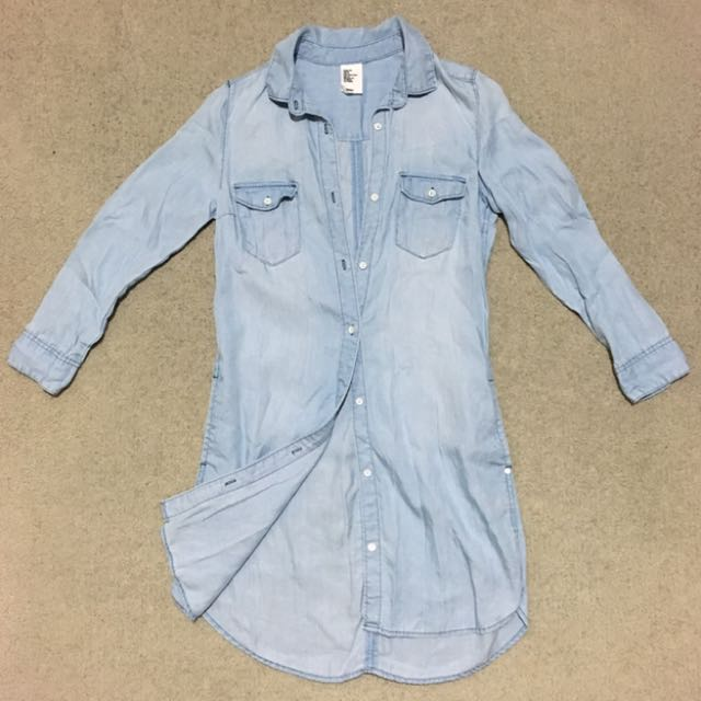 H&M Denim Long Shirt