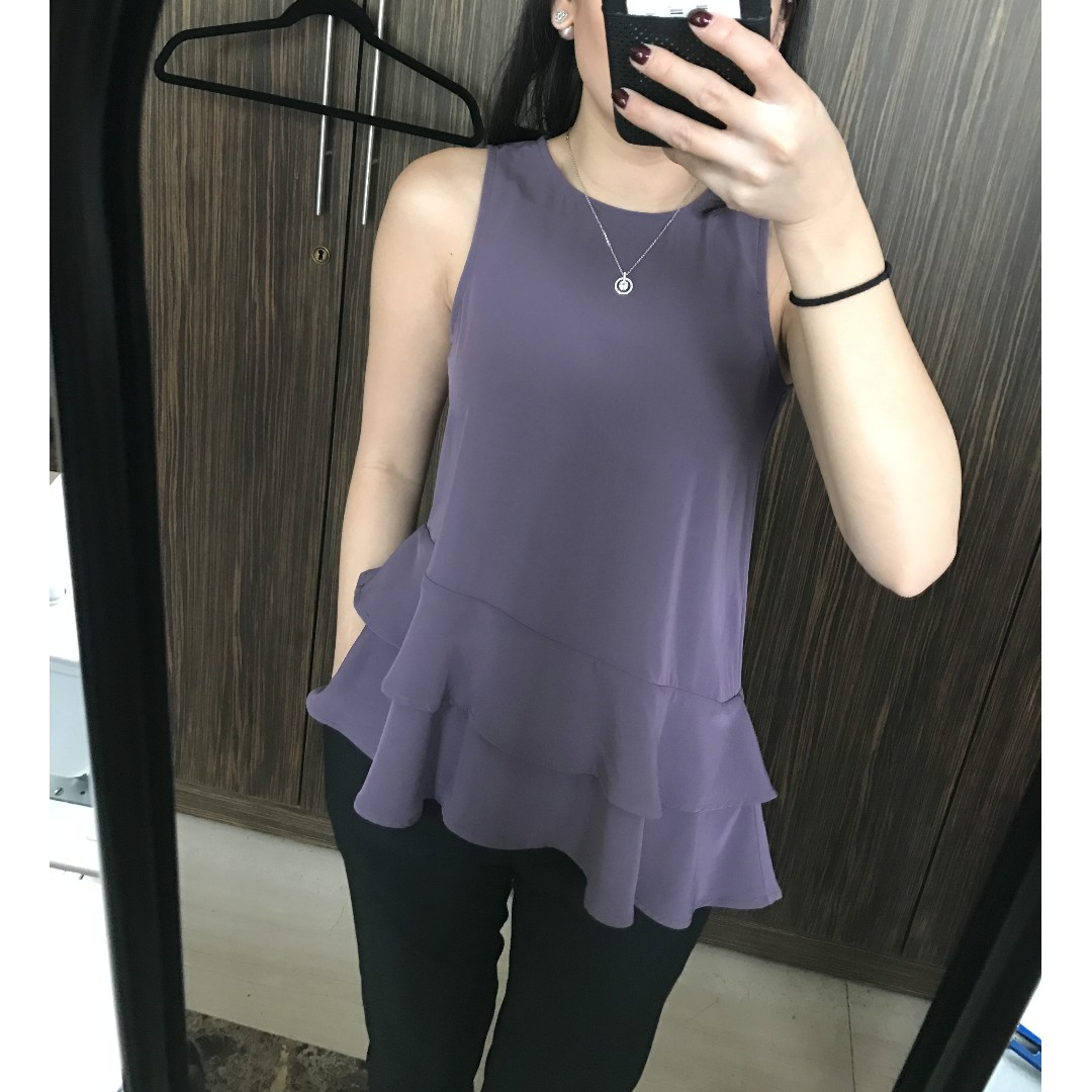 H&M Purple Sabrina Top