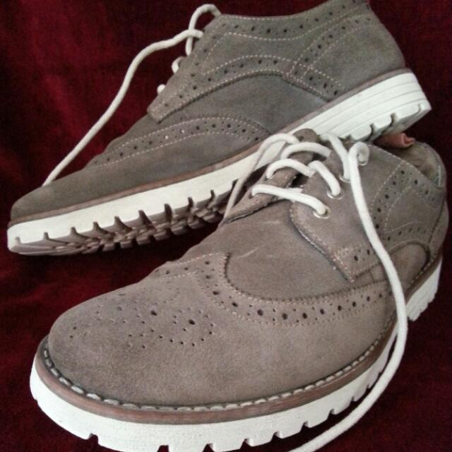 Hush Puppies Brown Suede Oxford (41)