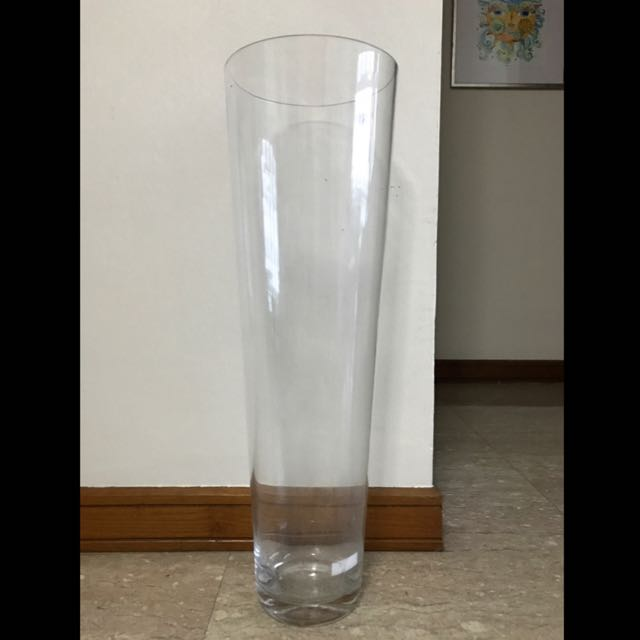 Ikea Tapered Glass Vase Furniture Home Decor On Carousell