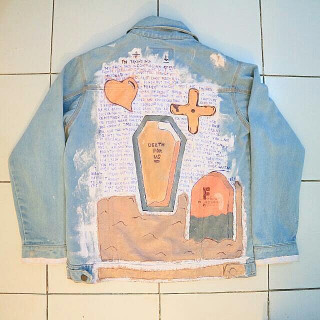 Jaket Jeans / Denim Hand Painting