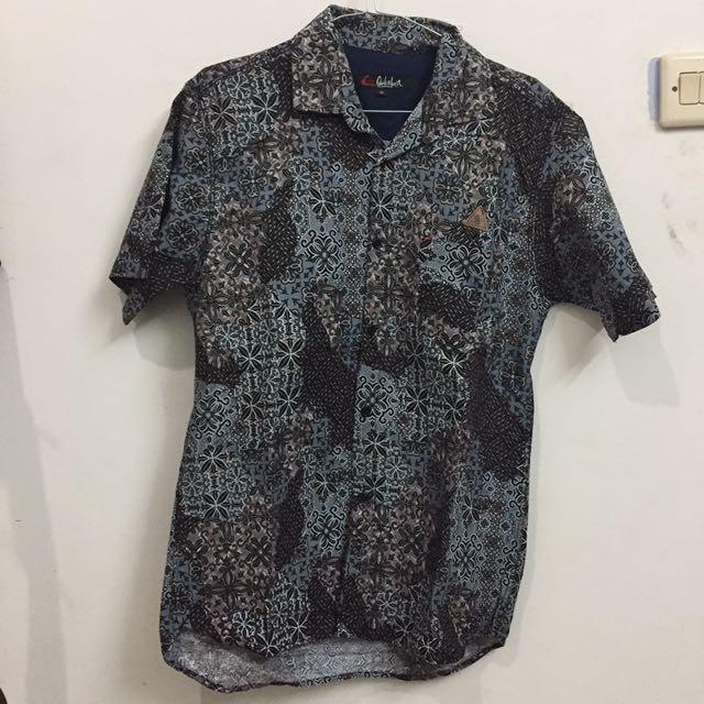 Kemeja Batik Biru/Abu-Abu