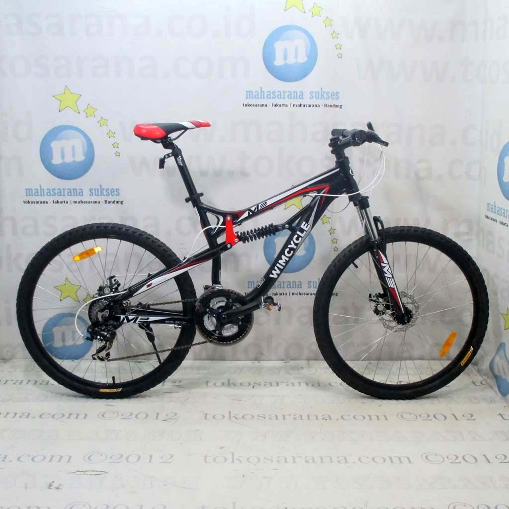 Kredit Cukup KTP 26in Wimcycle M2 Alloy Full Suspension MTB Sepeda Gunung