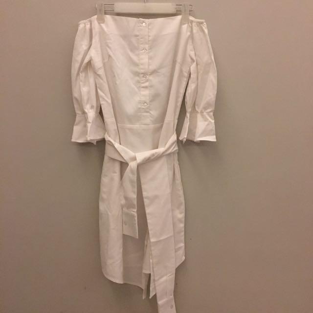 Label8 Sabrina White Dress