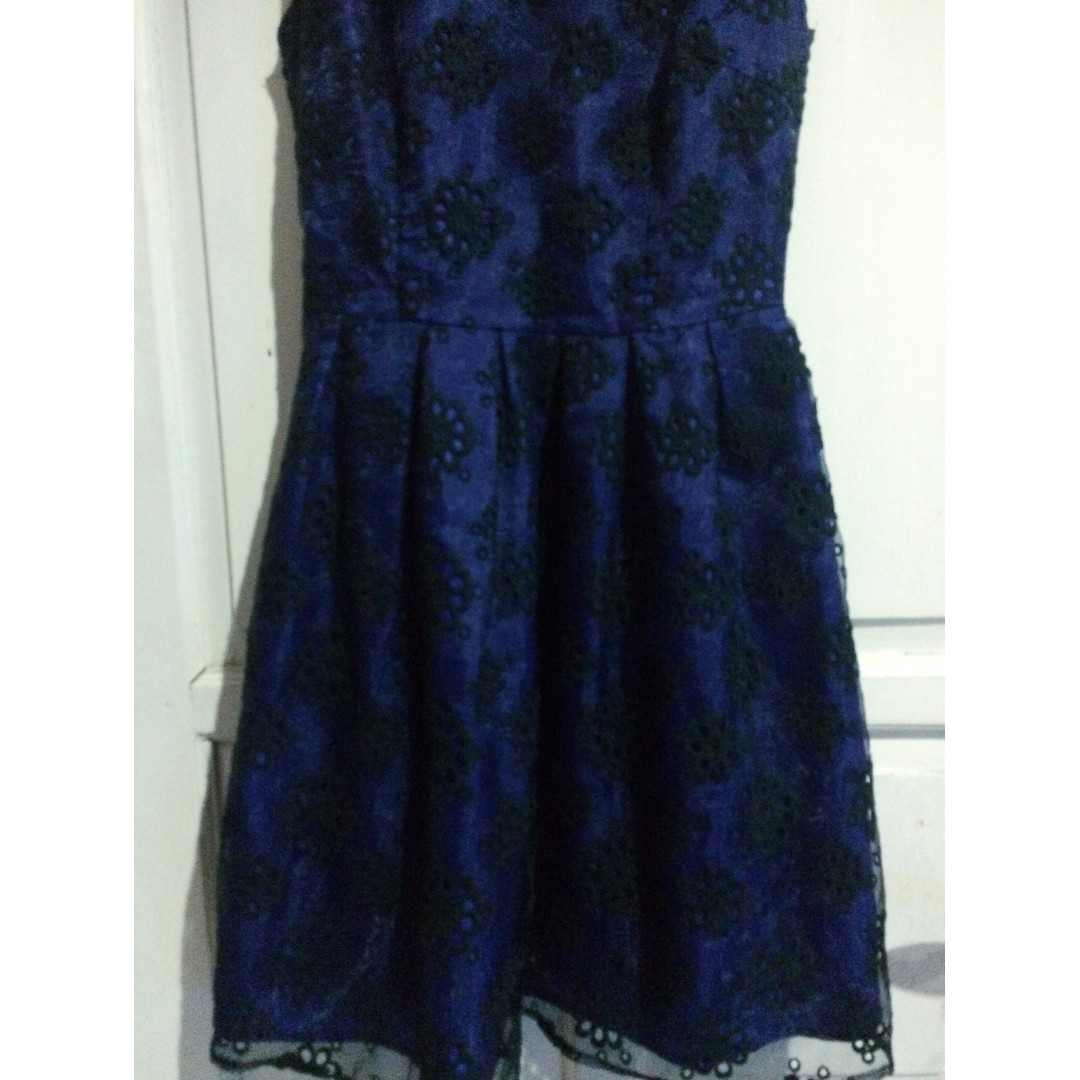 Lace Black and DarkBlue Dress Newlook