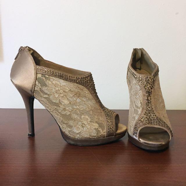 Lace/Satin Heels