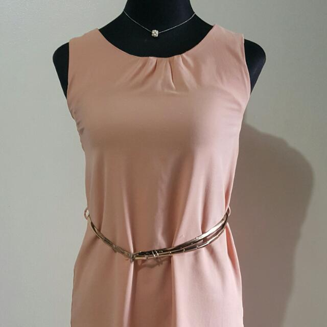 Liberte Corporate Dress In Baby Pink