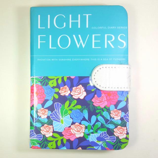 LIGHT FLOWERS: Hardbound Notebook / Journal