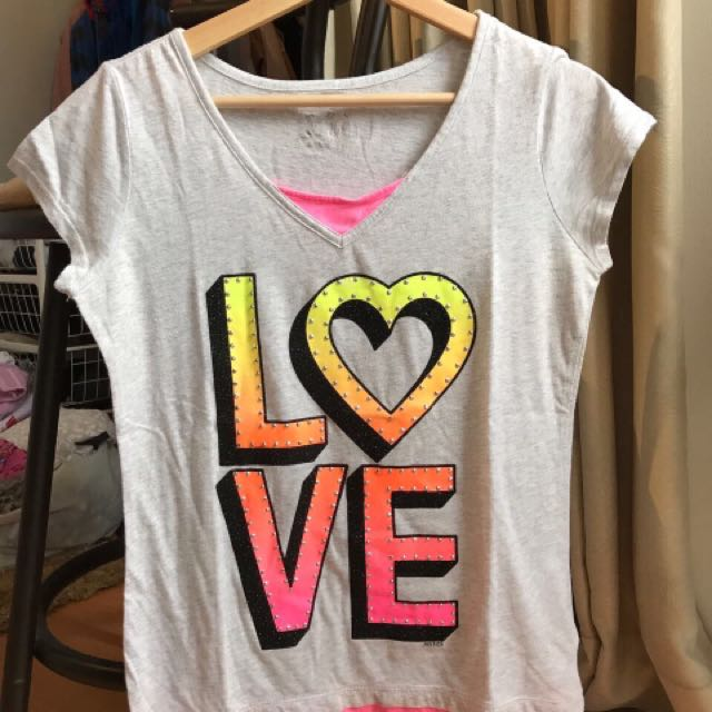 love shirt by justice