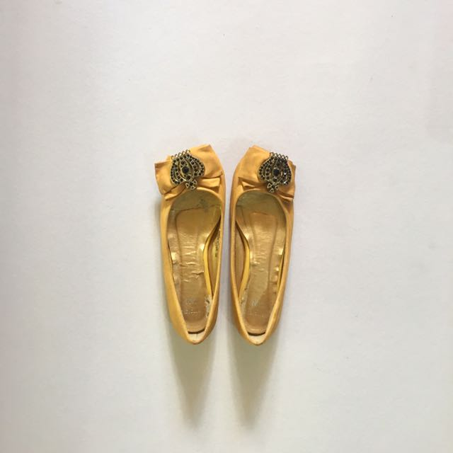 memorata By CLN Mustard Flat Shoes