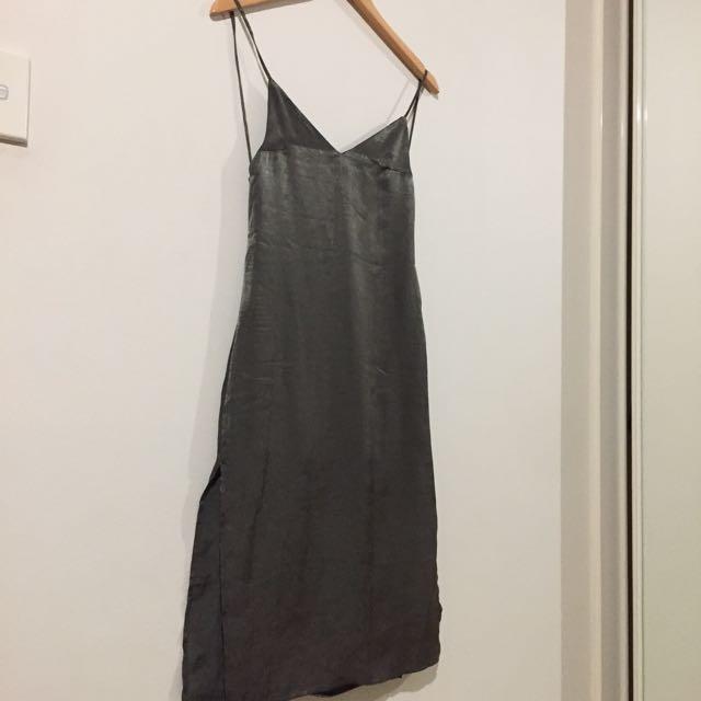 MESHKI Satin Midi Dress XS