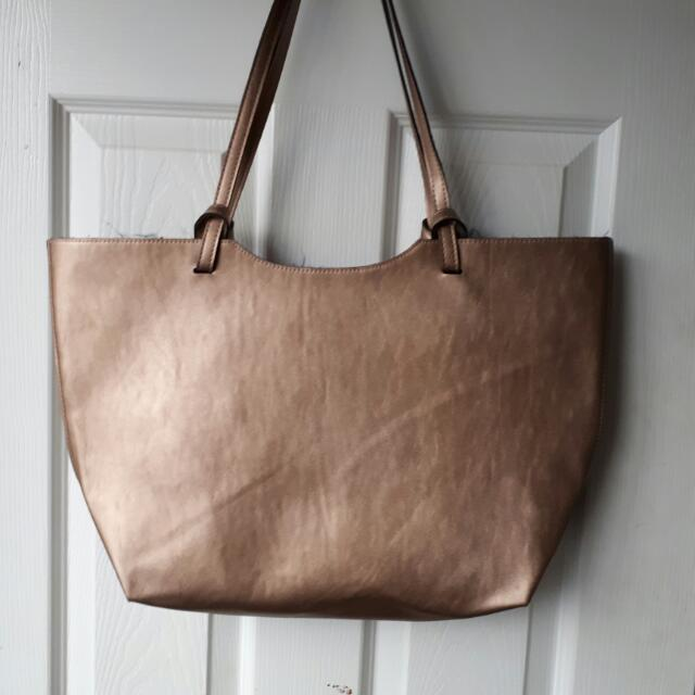 Metallic Bronze Tote Bag