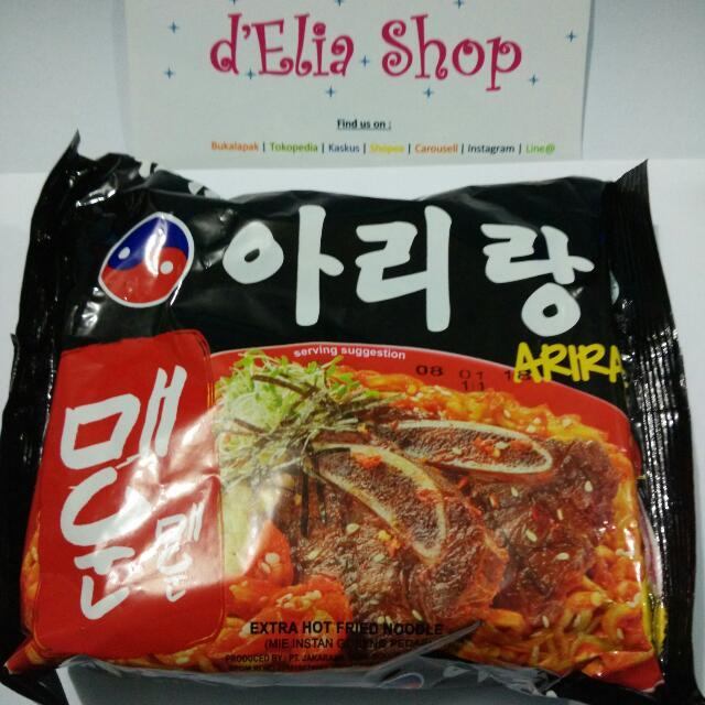 Mie Arirang Hot Hot - Extra Pedas Halal MUI