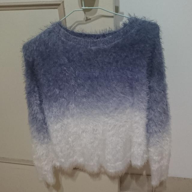 漸層藍毛衣M~L