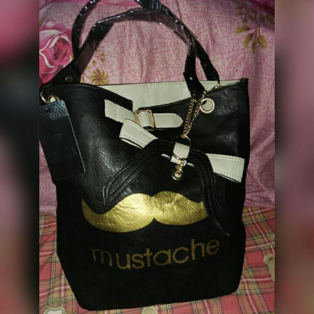 Mustache Shoulder Bag