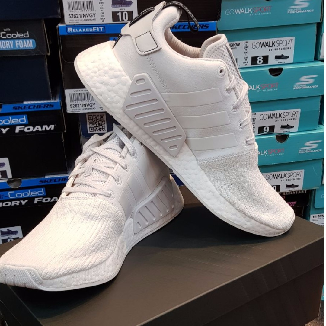 size 40 769e0 b13c1 NEW DROP*NMD R2 CRYSTAL WHITE, Men's Fashion, Footwear on ...