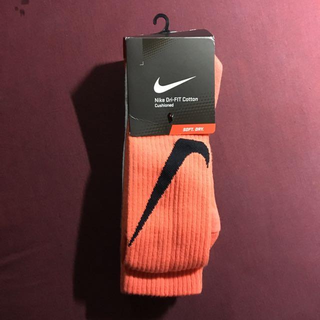Nike 長襪 三雙ㄧ組 大勾 橘 白 灰