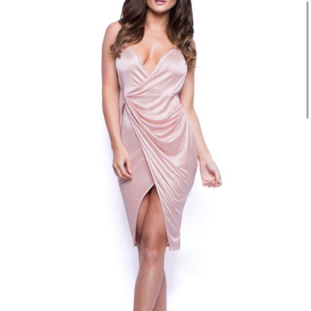 OHPOLLY Satin Dress