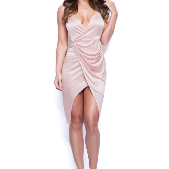 OHPOLLY Satin Dress