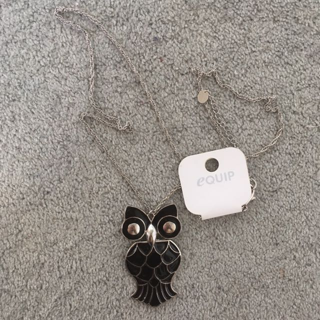 Equip Owl Statement Necklace Chain
