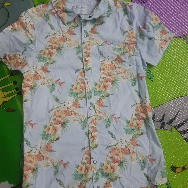 Preloved Gingersnaps Boys Hawaiian Polo Size 14 Includes S&H