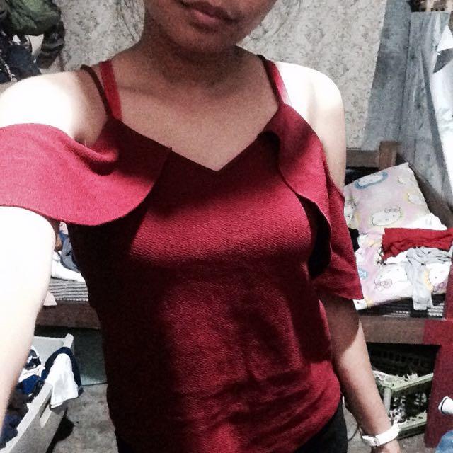 Red Off Shoulder?😂