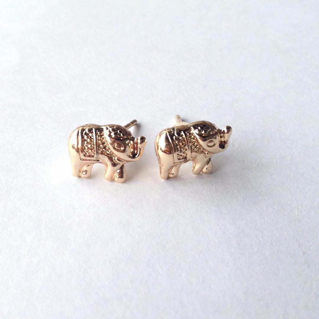 Rose-Gold Elephant Earrings