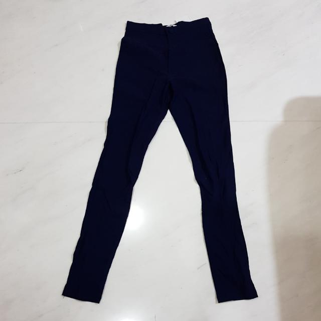 Skinny Navy Blue Pants
