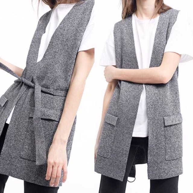 STRADIVARIUS Waist Coat With Belt
