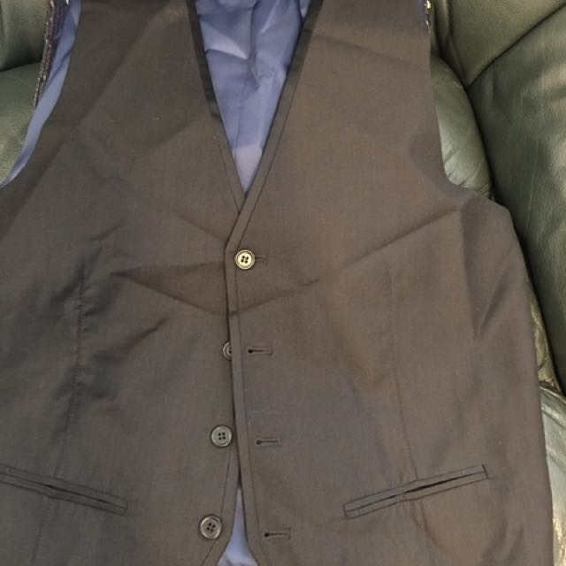 Tarocash Lined Black Vest Size M