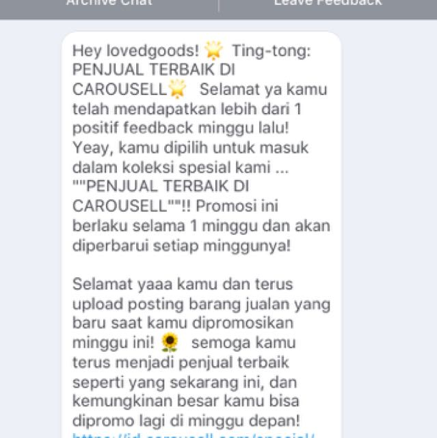 Thank you Carousell team!✨