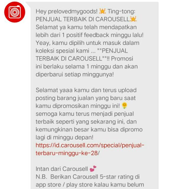 Thank's Carousell!!!